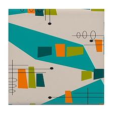 Mid-Century Modern Atomic Tile Coaster