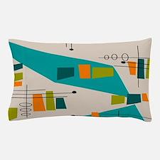 Mid-Century Modern Atomic Pillow Case