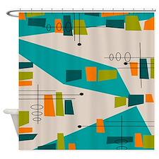 Mid-Century Modern Atomic Shower Curtain