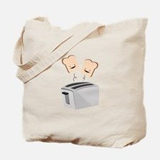 Happy Toaster Tote Bag