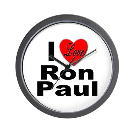 I Love Ron Paul Wall Clock