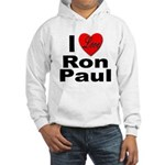 I Love Ron Paul (Front) Hooded Sweatshirt