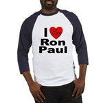 I Love Ron Paul (Front) Baseball Jersey