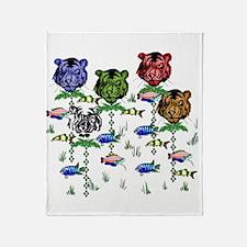 Rainbow Tiger Garden Throw Blanket