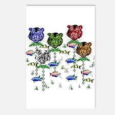 Rainbow Tiger Garden Postcards (Package of 8)