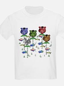 Rainbow Tiger Garden T-Shirt