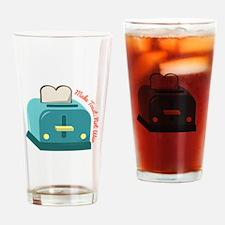 Make Toast Drinking Glass