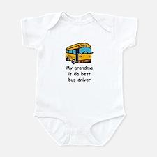 MY GRANDMA IS DA BEST BUS DRIVER Infant Bodysuit