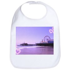 Purple Hearts Pier Bib