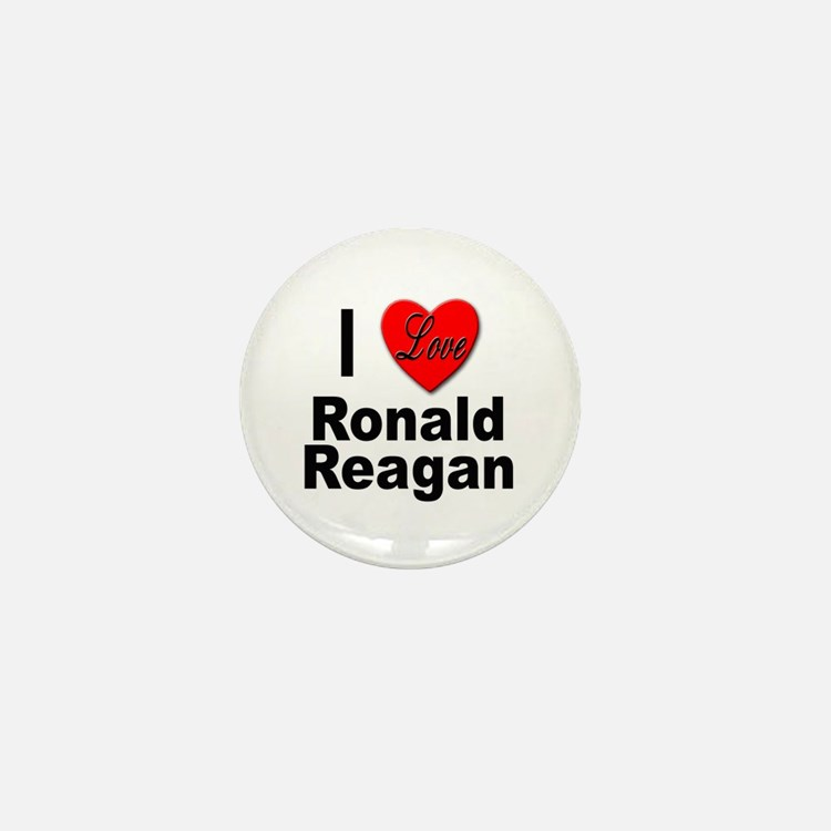 I Love Ronald Reagan Mini Button