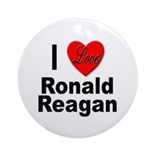 I Love Ronald Reagan Ornament (Round)