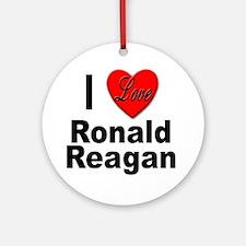 I Love Ronald Reagan Ornament (Round)