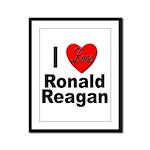 I Love Ronald Reagan Framed Panel Print