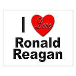 I Love Ronald Reagan Small Poster