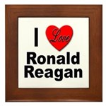 I Love Ronald Reagan Framed Tile