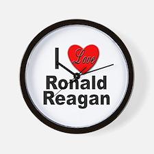 I Love Ronald Reagan Wall Clock