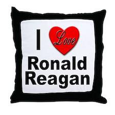 I Love Ronald Reagan Throw Pillow