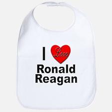 I Love Ronald Reagan Bib