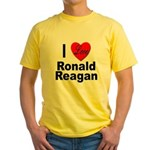 I Love Ronald Reagan (Front) Yellow T-Shirt