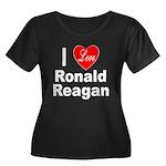 I Love Ronald Reagan (Front) Women's Plus Size Sco