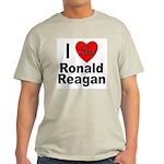 I Love Ronald Reagan (Front) Light T-Shirt