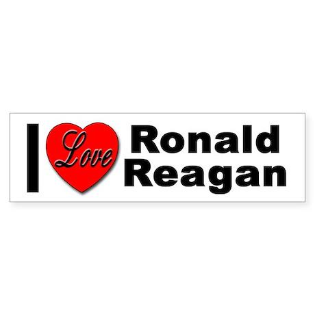I Love Ronald Reagan Bumper Sticker
