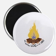 Log On The Fire Magnets