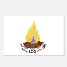 Log On The Fire Postcards (Package of 8)