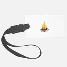 Log On The Fire Luggage Tag