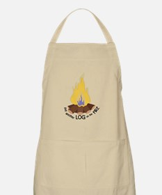 Log On The Fire Apron
