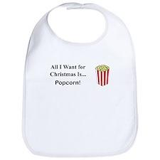 Christmas Popcorn Bib
