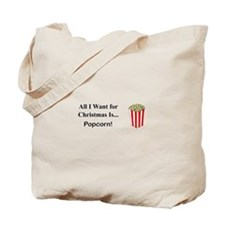Christmas Popcorn Tote Bag