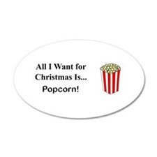 Christmas Popcorn Wall Decal