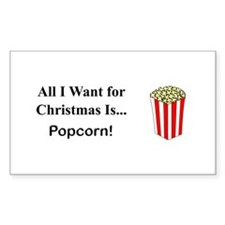 Christmas Popcorn Decal