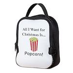 Christmas Popcorn Neoprene Lunch Bag