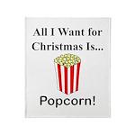 Christmas Popcorn Throw Blanket
