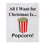 Christmas Popcorn Throw Blanket