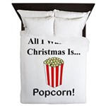 Christmas Popcorn Queen Duvet