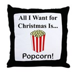 Christmas Popcorn Throw Pillow