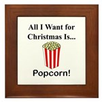 Christmas Popcorn Framed Tile