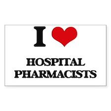 I love Hospital Pharmacists Decal