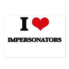 I love Impersonators Postcards (Package of 8)