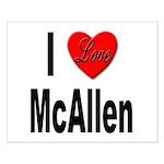I Love McAllen Small Poster