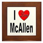 I Love McAllen Framed Tile