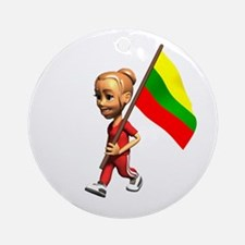 Lithuania Girl Ornament (Round)