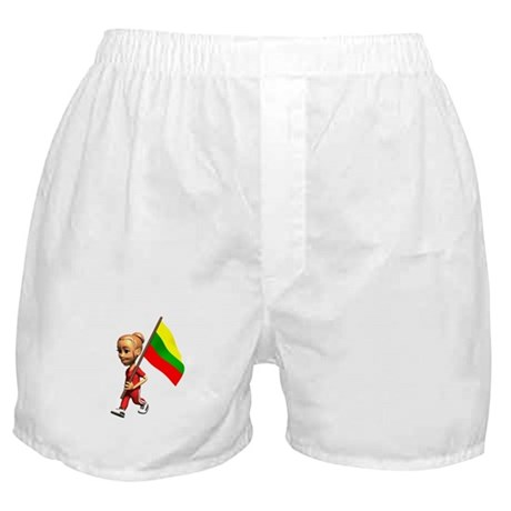 Lithuania Girl Boxer Shorts