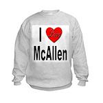 I Love McAllen (Front) Kids Sweatshirt