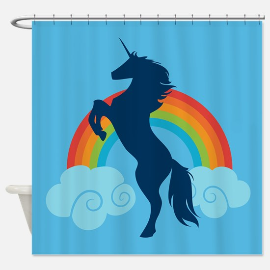 Unicorn Rainbow Fantasy Shower Curtain