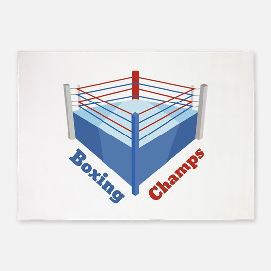 Boxing Champs 5'x7'Area Rug