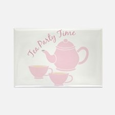 Tea Party Time Magnets